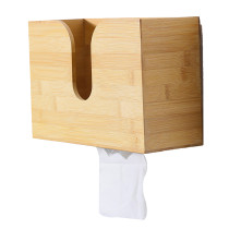 Bamboo Paper Towel Dispenser, Wall Mount and Countertop Multifold Paper Towel Holder, Hand Towel Holder