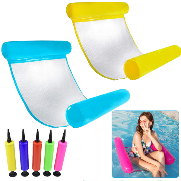 Pool Floating Lounge for Adults, Water Hammock Recliner, Inflatable Floating Swimming Mattress
