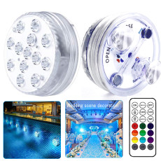 Submersible LED Lights with Magnet, 13 LEDs Underwater Lights with Suction Cup, Waterproof LED Lights
