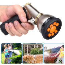 Garden Hose Nozzles, 9 Adjustable Patterns Hose Spray Nozzle, Heavy Duty Metal Hose Nozzle Spray Gun