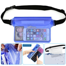 Waterproof Waist Bag Pouch, Waterproof Fanny Pack with Adjustable Strap, Lightweight Waist Dry Bag