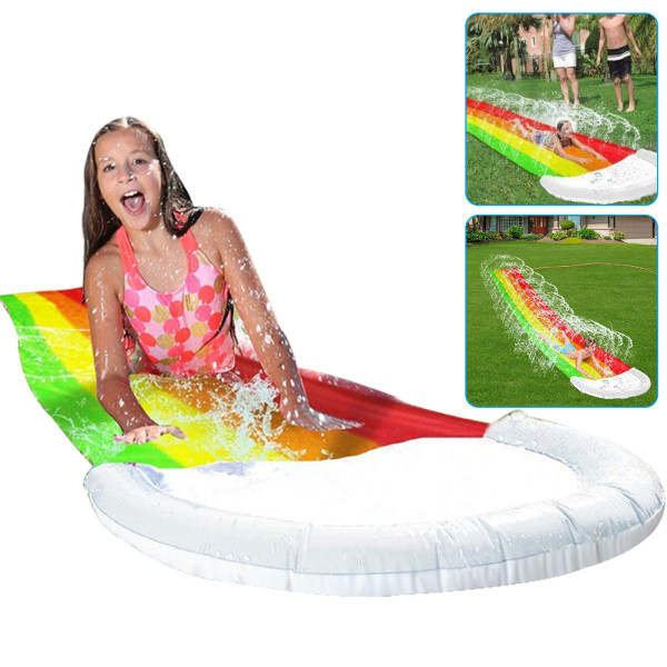 Rainbow Water Slide For Kids, Backyard Water Slide, Lawn Water Slides Easy to Set Up Water Toys