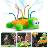 Outdoor Water Spray Sprinkler for Kids and Toddlers, Spinning Turtle Sprinkler Toy, Splash Turtle for Summer Days