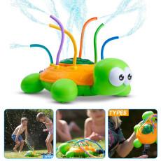 Outdoor Water Spray Sprinkler for Kids and Toddlers, Spinning Turtle Sprinkler Toy, Splash Turtle for Summer Days