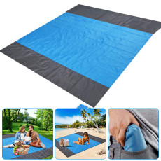 Sand Free Beach Mat, Outdoor Picnic Mat for Travel Camping Hiking, Waterproof Beach Blanket 82'' x 79''