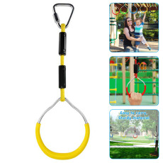 Colorful Swing Gymnastic Rings for Kids, Outdoor Backyard Playground Equipment, Pull Up Climbing Ring