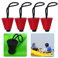 4PCS Universal Kayak Scupper Plugs Kit, Canoe Drain Holes Stopper, Kayak Plugs for Kayaks Hobie