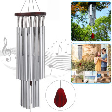 27 Tubes Handmade Wind Chimes, Hanging Ornament Wind Bells Outdoor, Memorial Wind Chimes for Garden