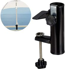 Patio Umbrella Holder, Bench Buddy Deck Umbrella Stand, Beach Fishing Umbrella Mount Clamp