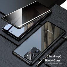 Wtowin Samsung Magnetic Phone Case Galaxy Note20/20 Ultra Double Sided Tempered Glass Anti Peeping Phone Cover
