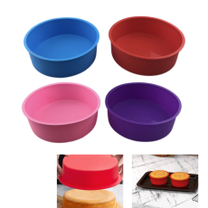 6.5in Round Cake Pans, Silicone Molds for Baking, DIY Desserts Baking Mold Mousse Cake Moulds