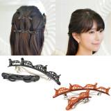 1 Pair Double Layer Twist Plait Headband Hair Tools, Hair Twister Clip Headband, Hollow Woven Headband