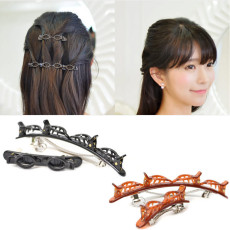 1 Pair Double Layer Twist Plait Headband Hair Tools, Hair Twister Clip Headband, Hollow Woven Headband