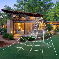 Halloween Spider Web, Fake Spider Web Props for Halloween Decoration, Outdoor Yard Haunted House Party Halloween Decor Supplies