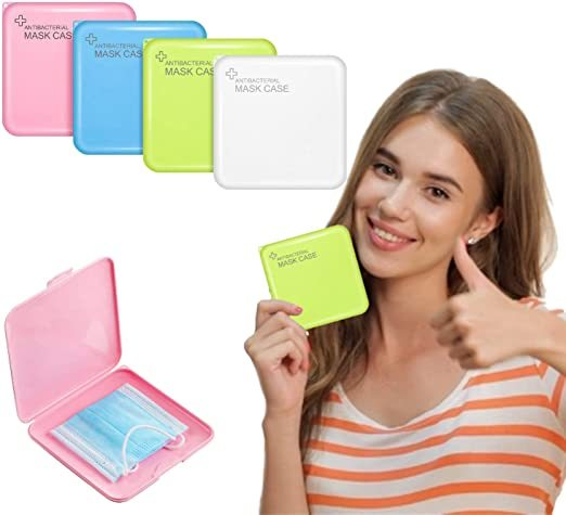 Plastic Face Mask Case, Dustproof Portable Face Cover Box, Pollution Prevention Storage Box for Face Mask