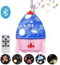 Star Projector Night Light for Kids, Galaxy Light Projector for Bedroom, Rechargeable Rotating LED Night Light