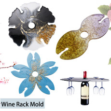 Wine Glass Holder Resin Molds, Wine Glass Butler Silicone Molds for Resin, Epoxy Resin Casting Molds for DIY Crafts