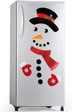 Snowman Refrigerator Magnets Set of 16, Cute Funny Fridge Magnet Refrigerator Stickers, Snowman Magnets Xmas
