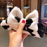 Wash Face Hair Holder Hairbands Soft Warm Coral Fleece Bow Animal Ears Headband For Women Girls Turban Fashion Hair Accessories