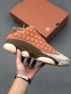 CLOT x Nike Air Jordan 13 Low Terracotta Sneakers