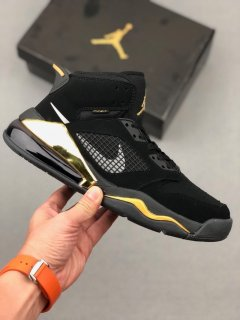 Nike Air Jordan Mars 270 DMP Black Metallic Gold Sneakers