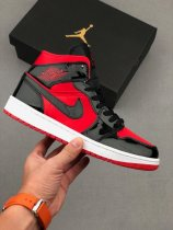 Nike Air Jordan 1 Mid Hot Punch Sneakers Red Black