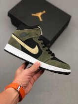 Nike Air Jordan 1 Mid Sneakers Military Olive