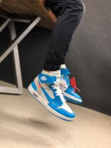 Off White x Nike Air Jordan 1 NRG UNC Sneakers