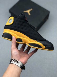 Nike Air Jordan 13 Retro Sneakers Graduation Pack Black Yellow