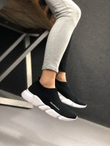 Balenciaga Speed Trainers Low Sock Shoes Black White