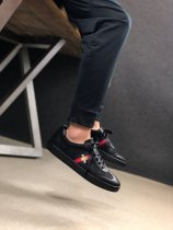 Gucci G74 Bee Embroidered Sneakers In Black