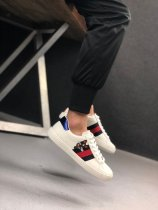 Gucci Ace Terrier Embroidered Sneaker In White Black Red Navy