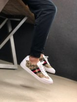 Gucci G74 Bee Embroidered Sneakers In White Brown