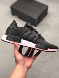 Adidas NMD R1 Primeknit Black Pink Casual Shoes