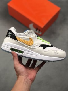 Nike Air Max 1 Daisy White Black Yellow Green Trainers