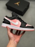 Nike Air Jordan 1 Low Black Pink Quartz Sneakers