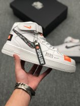 Nike Air Force 1 Mid Just Do It White Sneakers