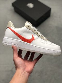 Nike Air Force 1 Low White Orange Sneakers