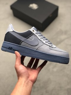 Nike Air Force 1 07 Premium Ashen Slate Blue Obsidian Sneakers