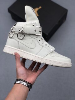 CDG x Nike Air Jordan 1 High White Sneakers