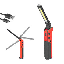 Rechargeable 360 Lumen Flodable Work Light with 150 Lumen LED Flashlight