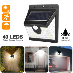 40LED Solar Light Outdoor Solar Lamp PIR Motion Sensor Wall Light Waterproof Solar Powered Sunlight for Garden Decoration Waterproof Emergency Garden Yard Lamps-TopLite®