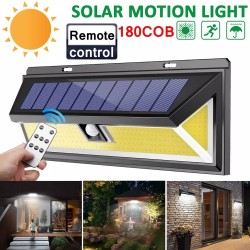 Outdoor 180 LED COB 3 Modes Solar Lamp PIR Motion Sensor 4000LM Solar Wall Light Waterproof Emergency Garden Yard Lamps-TopLite