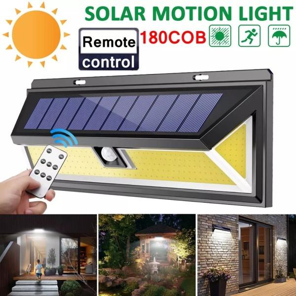 Outdoor 180 LED COB 3 Modes Solar Lamp PIR Motion Sensor 4000LM Solar Wall Light Waterproof Emergency Garden Yard Lamps-TopLite