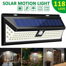 Outdoor 118 LED 3 Modes Solar Lamp PIR Motion Sensor 2500LM Solar Wall Light Waterproof Emergency Garden Yard Lamps-TopLite