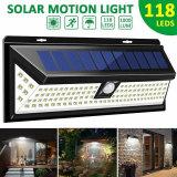 Outdoor 118 LED 3 Modes Solar Lamp PIR Motion Sensor 2500LM Solar Wall Light Waterproof Emergency Garden Yard Lamps-TopLite
