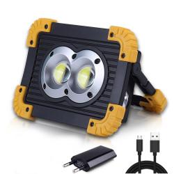 1000 Lumen Cordless 2x18650 Lithium Battery Power Bank Portable Rechargeable COB LED Work Light-TopLite