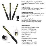400 Lumen slim inspection lamp COB led Portable work light folding rechargeable working light led Lumen Rotary Switch Magnetic Base Rechargeable COB Work Lights-TopLite
