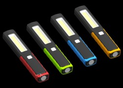 Multi-colour Pocket Lamp COB LED Work light Portable Flashlight, 3*AAA Battery belong to tools Toplite
