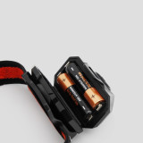Portable LED Camping Hiking Headlamp Elastic Ribbon Headlight